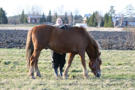 Vårkänslor! Jag och hästen Kalex våren 2009.