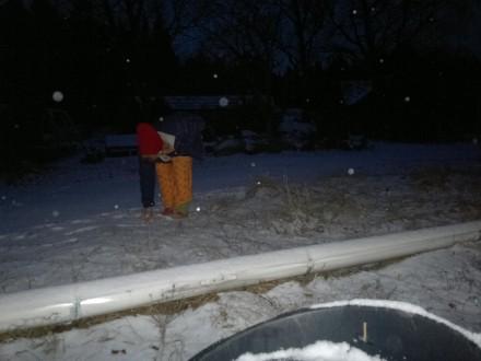 Första snön på ytterholm