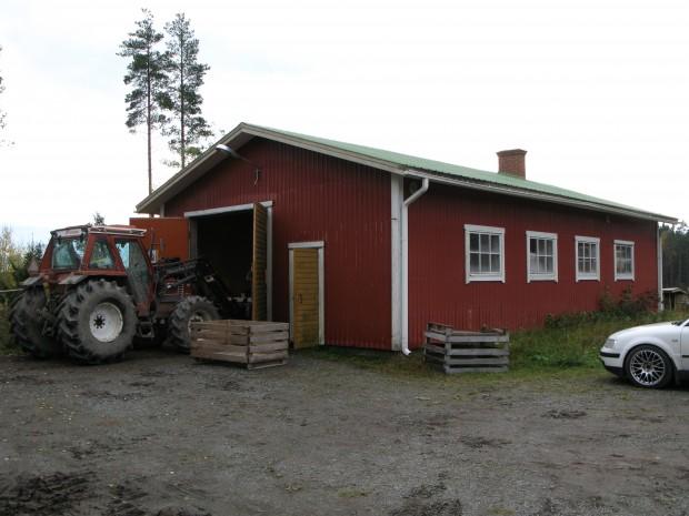 Jaktföreningens slakthus fick vi hyra in oss i under återuppbyggnadstiden.