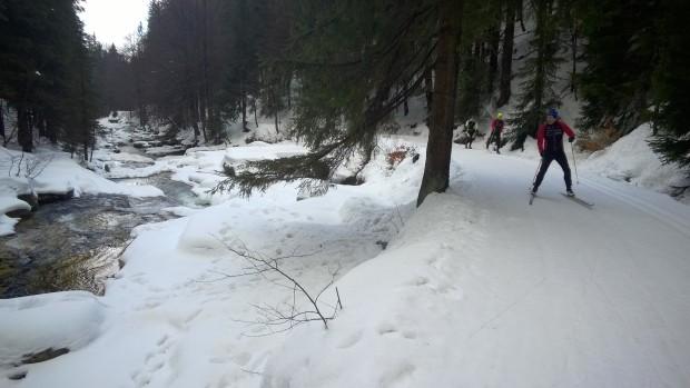 Fina spår i bergen vid polska gränsen.
