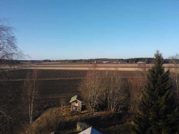 Bild över Långmosskärret 8 mars 2014