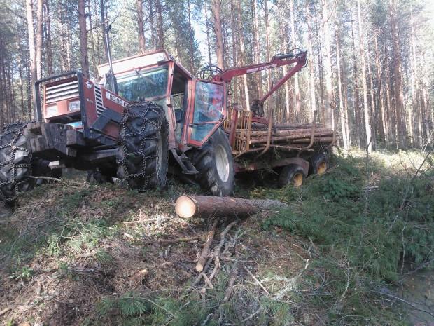 Ibland har grävaren lyckats få det oländigt på gamla dikesvallen.