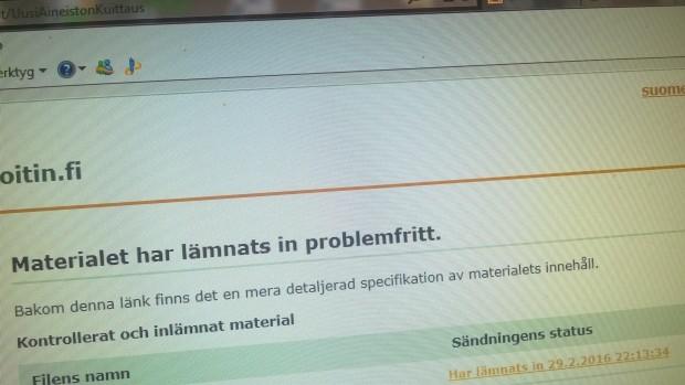 En bild av skärmen får fungera som bevis över att deklarationerna inlämnats i god tid :)